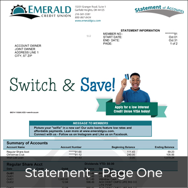 Statement - Page One Preview