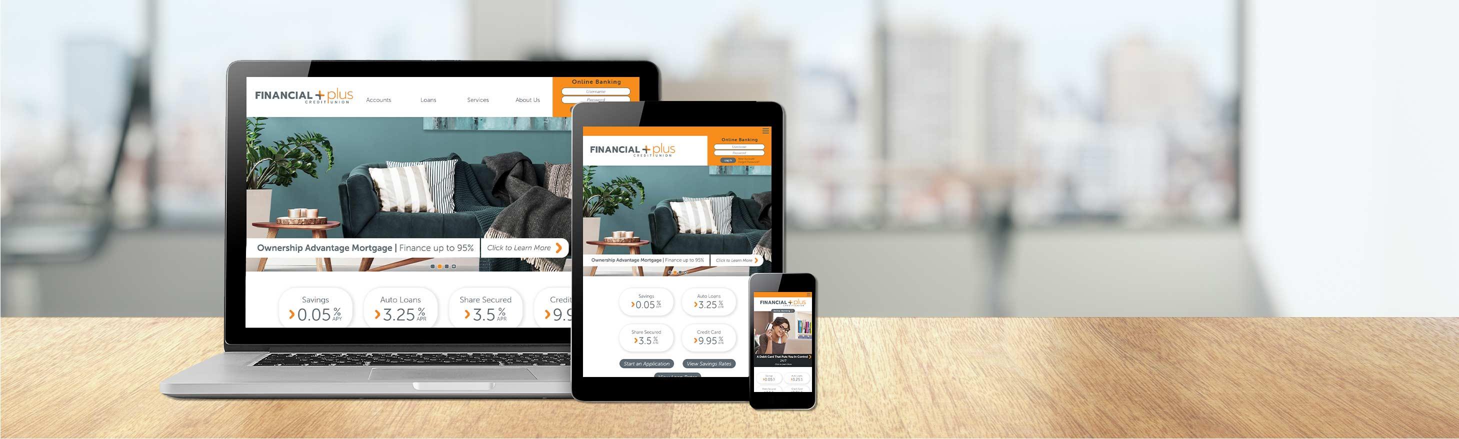 Financial Plus Credit Union's Website Design
