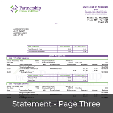 Statement - Page Three Preview